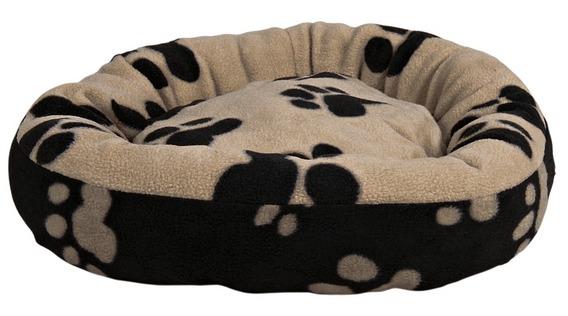 Трикси Лежак Sammy для собак и кошек, диаметр 50 см, черный/бежевый, Trixie