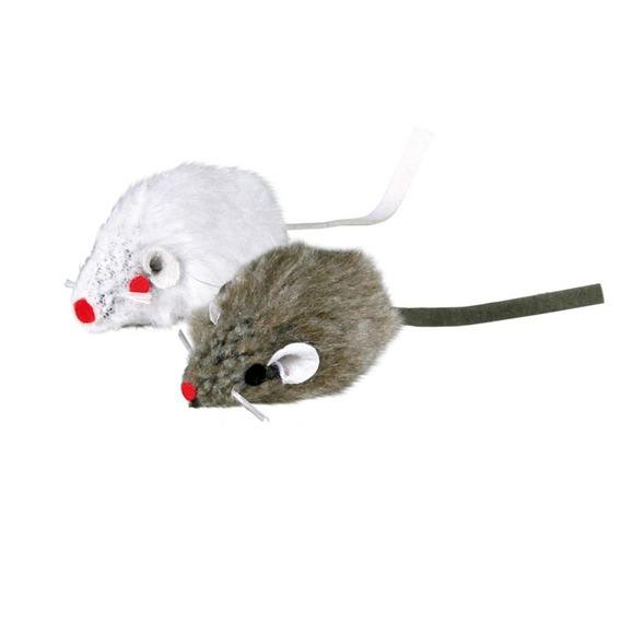 Трикси Игрушка для кошек набор из двух мышей, с колокольчиком, Trixie