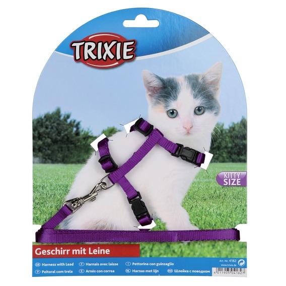 Трикси Шлейка с поводком для котят, нейлон, Trixie