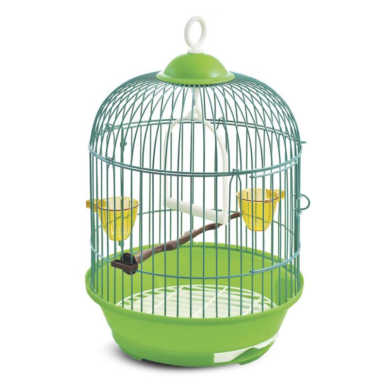 Триол Клетка для птиц круглая, диаметр 23 см, высота 36,5 см, в ассортименте, Triol