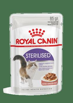 Влажный корм (паучи) Роял Канин для стерилизованных кошек Sterilised, в ассортименте, Royal Canin