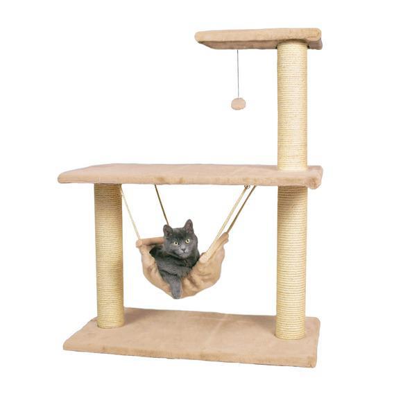 Трикси Комплекс для кошек Morella с подвесным гамаком, 75*40*96 см, Trixie