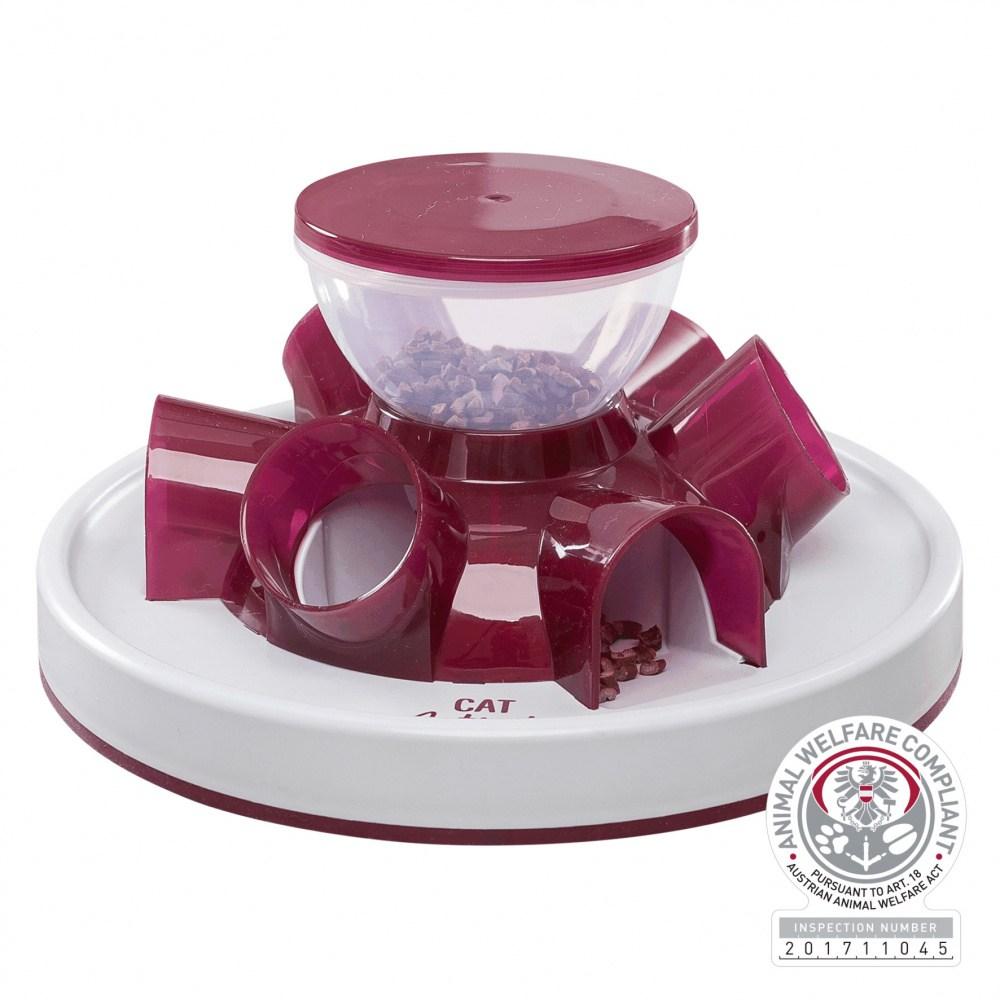 Трикси Игрушка для лакомств Кормушка-туннель, для кошек, 28*14 см, цвет красный, Trixie