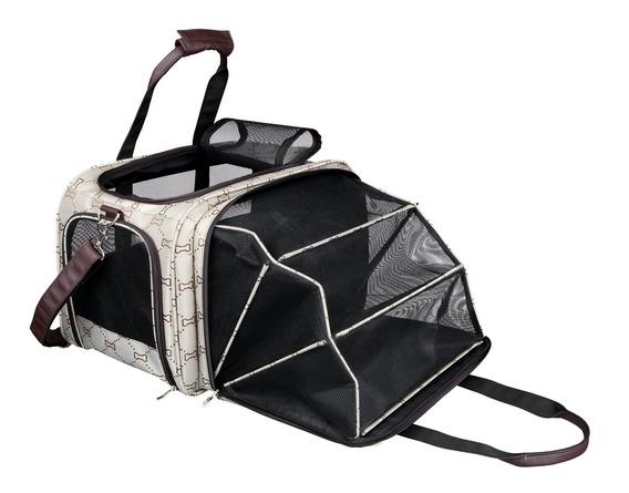 Трикси Раскладывающаяся сумка-переноска Maxima, 33*32*30/54 см, бежевый/коричневый, Trixie