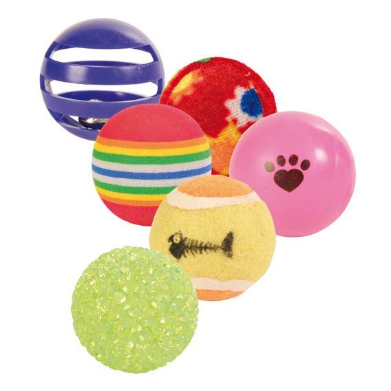 Трикси Набор разноцветных мячей, 6 шт, ассорти, Trixie