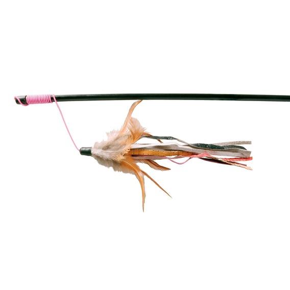 Трикси Удочка пластиковая с перьями для кошек, 50 см, Trixie