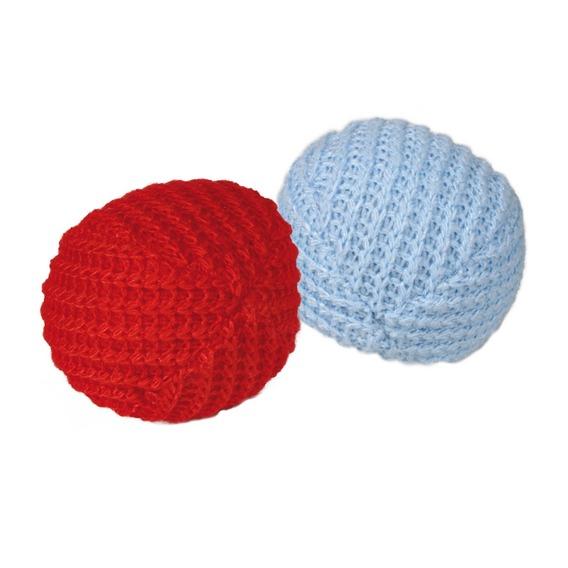 Трикси Мяч трикотажный, 2 шт, диаметр 4,5 см, Trixie