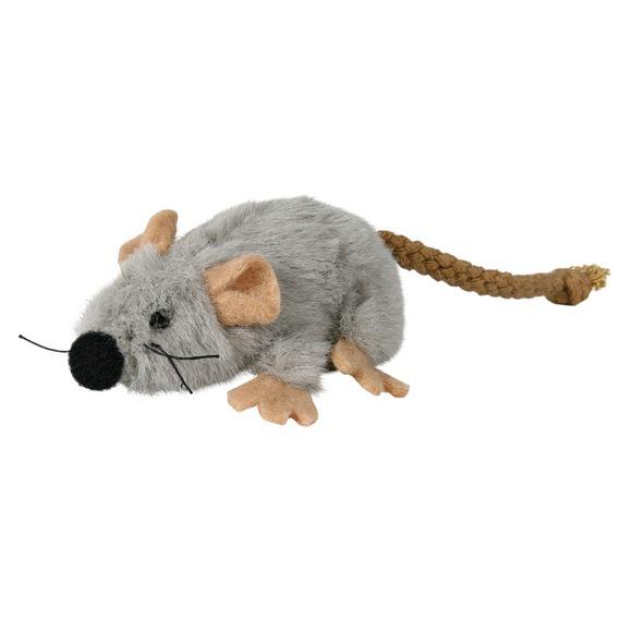 Трикси Игрушка для кошек Мышь, 7 см, плюш, Trixie