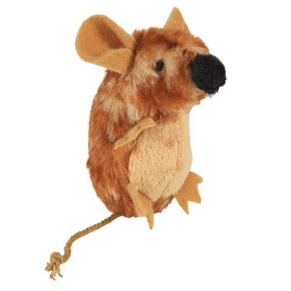 Трикси Игрушка для кошек Мышь с микрочипом, 8 см, плюш, Trixie
