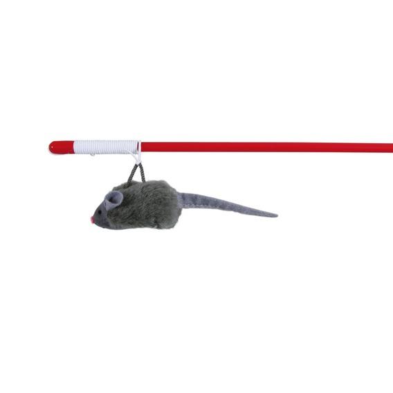 Трикси Удочка с мышкой с микрочипом на резинке, 47 см, Trixie