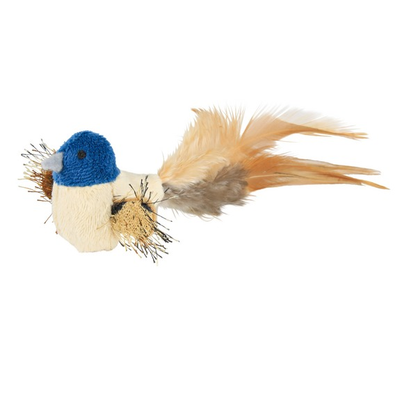 Трикси Игрушка для кошек Птичка, 8 см, плюш/перья, Trixie