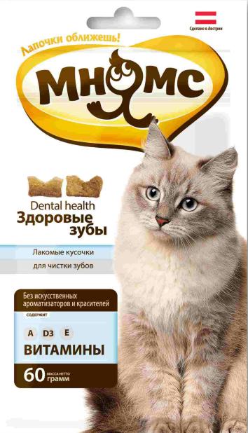 МНЯМС Лакомство для кошек, в ассортименте, 60 г