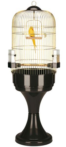 Ферпласт Клетка Max 6 Antique Brass для птиц, диаметр 53 см, высота с подставкой 165 см, Ferplast