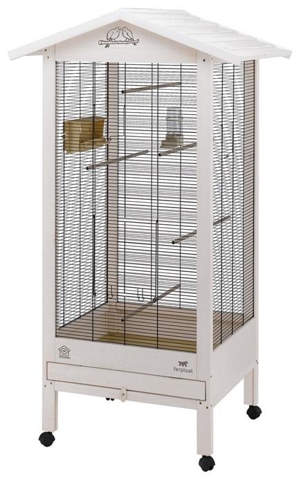 Ферпласт Вольер Hemmy для птиц деревянный, 84,5*65,5*165 см, Ferplast
