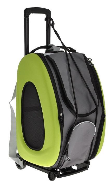 Ибияйя Рюкзак-сумка-тележка 3 в 1 складная, на колесах с выдвижной ручкой, 30*34*50 см, 3 цвета, Ibiyaya