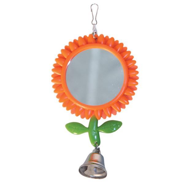 """Триол Игрушка для птиц """"Зеркало-подсолнух с колокольчиком"""", 8*17,5 см, пластик, Triol"""