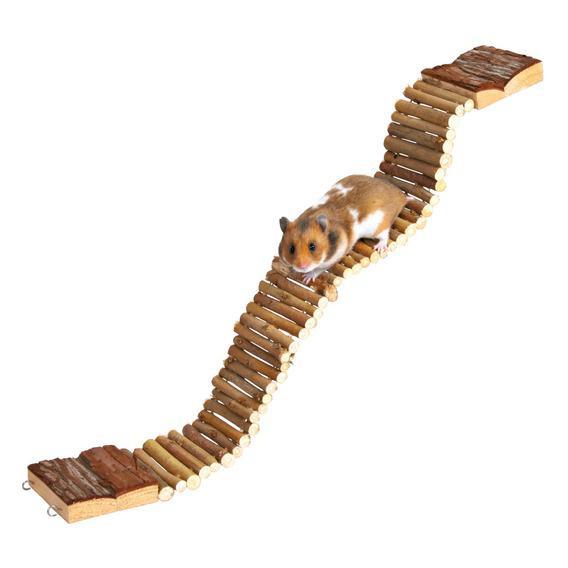 Трикси Лестница для грызунов из мелких палочек, 7*55 см, Trixie