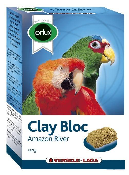 Верселе Лага Минеральный глиняный блок для крупных попугаев Orlux Clay Bloc Amazon Rivth, 550 г,  13*8,5*5 см, Versele-Laga