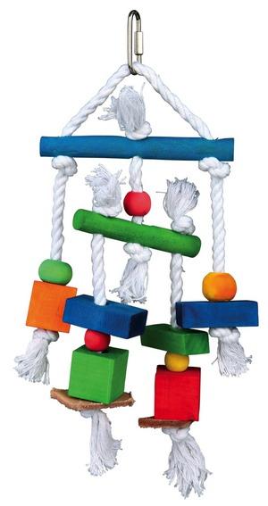 Трикси Игрушка для птиц, дерево, верёвка, 17*24 см, Trixie