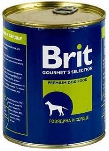 Брит Консервы приемиум класса для собак всех пород, 6*850 г, в ассортименте, Brit