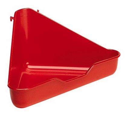 Ферпласт Туалет L370 угловой для грызунов и хорьков, 27*27 см, высота 17 см, в ассортименте, Ferplast