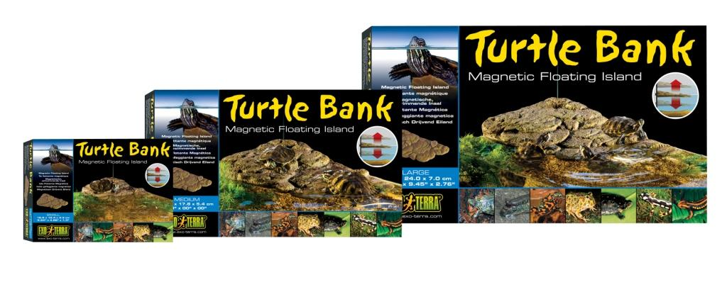 Экзо Терра Островок для земноводных обитателей террариума Turtle Island, крепление магнитами, в ассортименте, Exo Terra