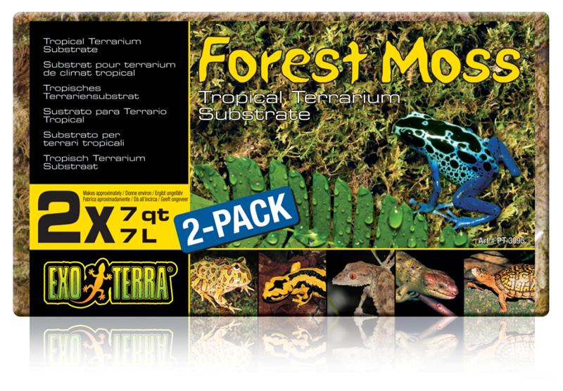 Экзо Терра Натуральный мох в брикете Forest Moss (brick), 2*7 л, Exo Terra