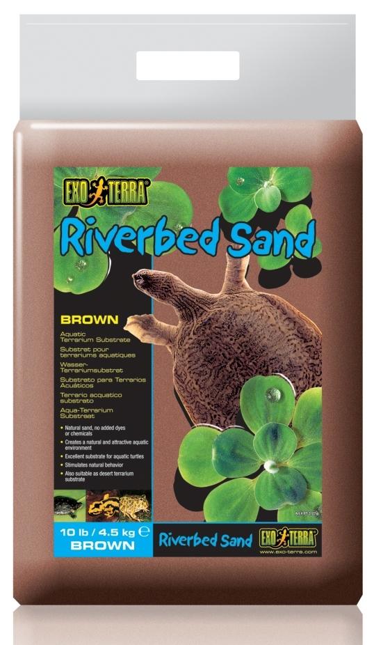Экзо Терра Коричневый речной песок Riverbed Sand, 4,5 кг, Exo Terra