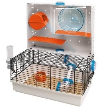Ферпласт Клетка Olimpia для мелких грызунов, с игровой панелью, 46*29,5*54 см, в ассортименте, Ferplast