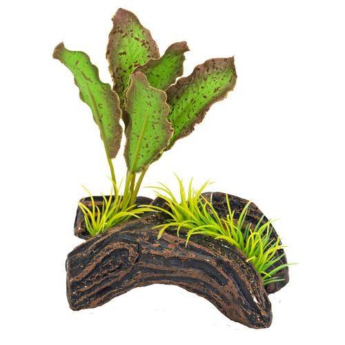 Пенн Плекс Распылитель декоративный Растение на бревне, 7,6*10 см, зеленый, Penn-Plax