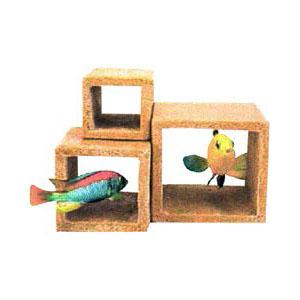 Пенн Плекс Декорация для аквариума Каменный куб, Penn-Plax
