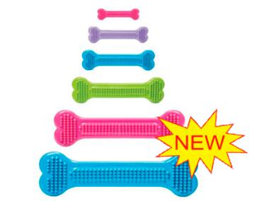Георпласт Гибкая игрушка-косточка для массажа десен, в ассортименте, Georplast