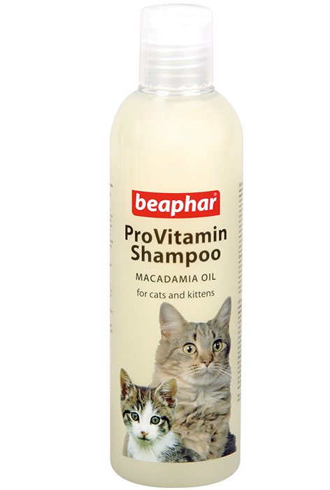 Беафар Шампунь ProVitamin Macadamia Oil для кошек с чувствительной кожей и котят с маслом австралийского ореха (макадамии), 250 мл, Beaphar