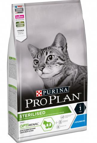 Корм Пурина Про План Sterilised для стерилизованных кошек Кролик, в ассортименте, Purina Pro Plan