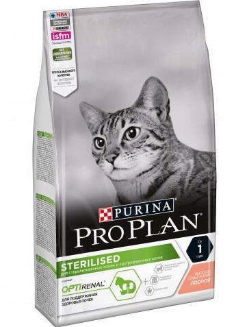 Пурина Про План Корм Sterilised для стерилизованных кошек Лосось, в ассортименте, Purina Pro Plan