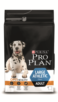 Корм Pro Plan Adult Large Athletic с комплексом OPTIHEALTH для собак крупных пород с атлетическим телосложением, Курица, 2 весовки
