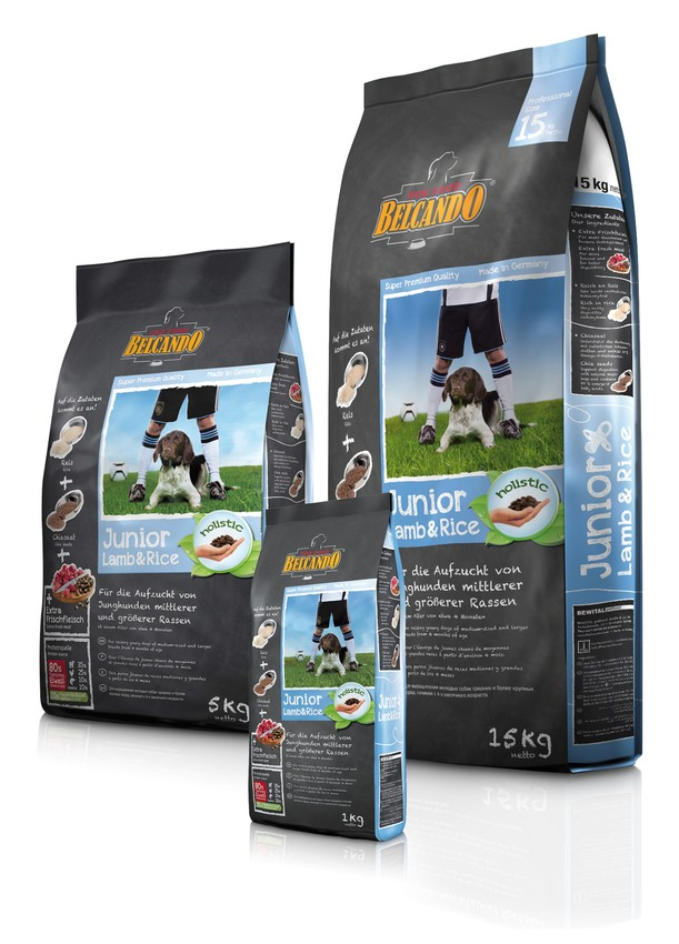 Белькандо Корм сухой гипоаллергенный Junior Lamb/Rice для щенков средних и крупных пород склонных к аллергическим реакциям, Ягненок/Рис, в ассортименте, Belcando