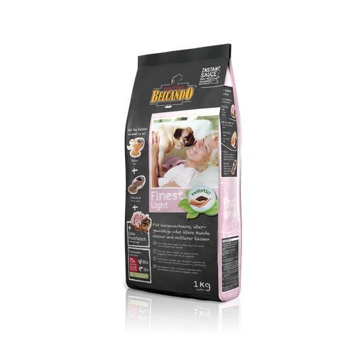 Белькандо Корм сухой Finest Light для собак мелких и средних пород склонных к избыточному весу, стареющих собак, в ассортименте, Belcando