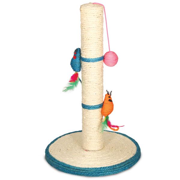 Триол Когтеточка на подставке с большими мышками и шариком, 30*50 см, Triol
