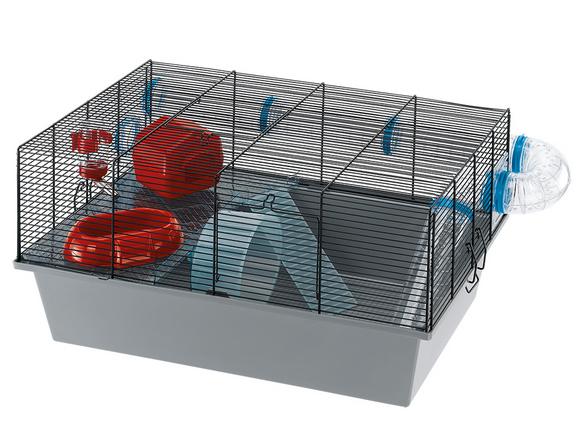 Ферпласт Клетка Milos Large для мелких грызунов с внешней трубой-туннелем, 58*38*30,5 см, Ferplast