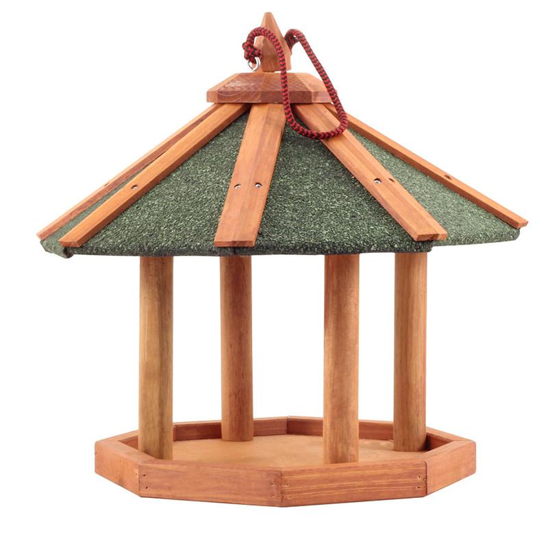 Триол Кормушка деревянная для птиц и грызунов подвесная, 44*44*39,5 см, Triol