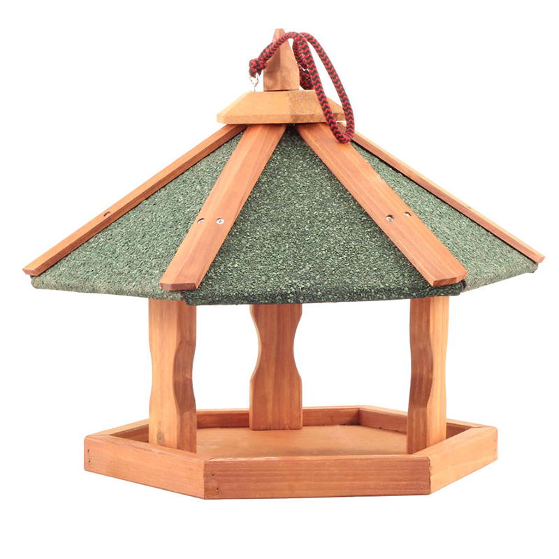 Триол Кормушка деревянная для птиц и грызунов подвесная, 47,5*47,5*36 см, Triol