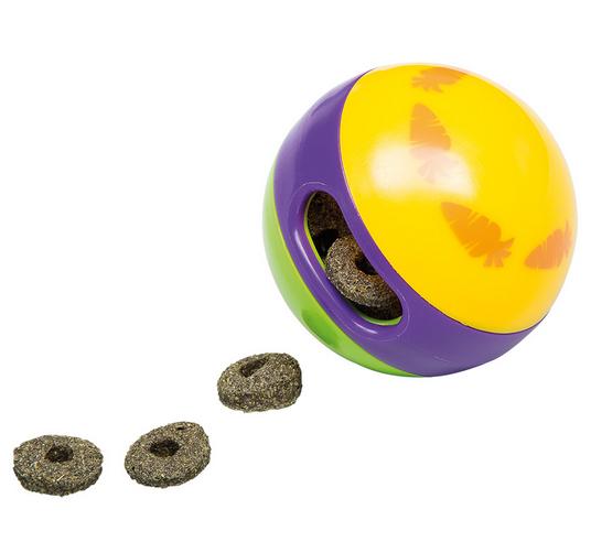АКЦИЯ АВГУСТА! Ферпласт Мяч для игр и лакомств для всех животных, диаметр 6 см, Ferplast