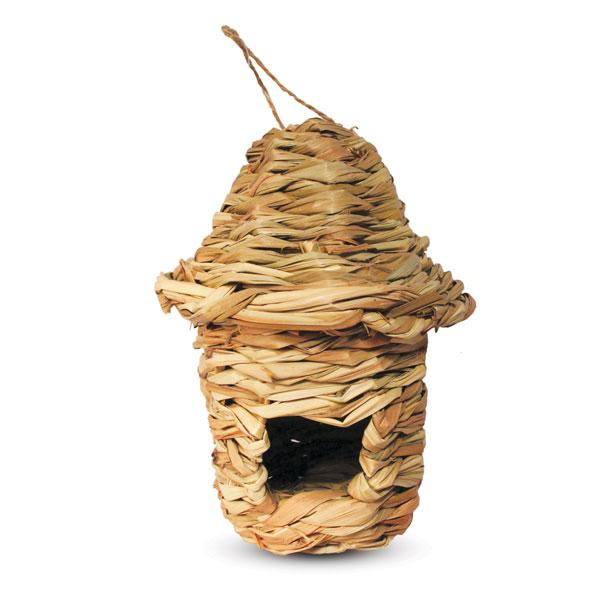 Триол Гнездо-домик для птиц pt9010 с фигурной крышей, 15*22 см, Triol