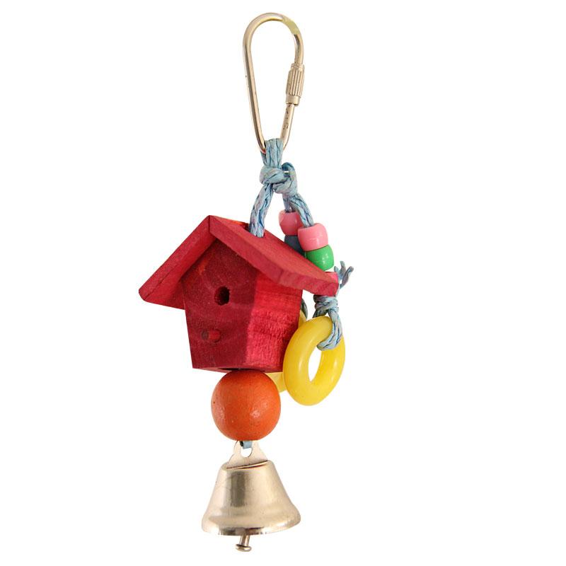 """Триол Игрушка для птиц """"Скворечник"""", 15 см, дерево, пластик, металл, Triol"""