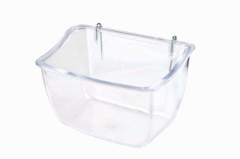 Имак Кормушка пластиковая на крючках Lori, 11*7,5*7 см, прозрачная, Imac