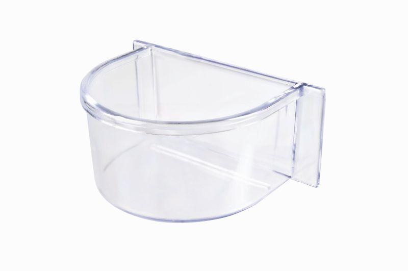 Имак Кормушка пластиковая Parrot прозрачная, 10,7*7,5*4,5 см, Imac