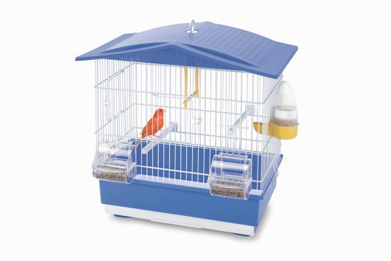 Имак Клетка Tiffany для малых птиц, 42*26*42 см, синий поддон, Imac