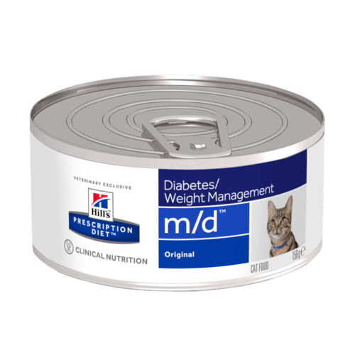 Консервы Хиллс Prescription Diet m/d Diabetes/Weight Management для кошек с избыточным весом или диабетом, 156 г, Hills