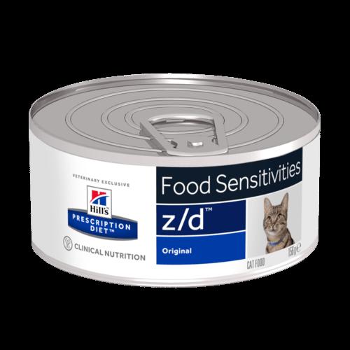 Консервы Хиллс Prescription Diet z/d Food Sensitivities для кошек с острыми пищевыми аллергиями, 156 г, Hills